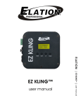 ELATION EZ KLING - USER MANUAL ver 1