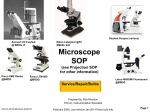 Microscope SOP - St. Louis Community College