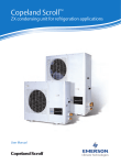 Copeland Scroll™ ZX Condensing Unit User Manual
