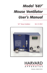Model 687 Mouse Ventilator User`s Manual