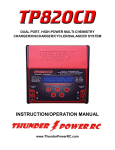 TP820CD Charger Manual