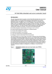 ST72321M9 embedded web server evaluation board