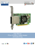 User Manual, PCIe x16 GEN 3 Cable Adapter