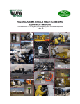 HAZARDOUS MATERIALS FIELD SCREENING EQUIPMENT MANUAL