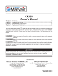 User manual CR330 - Dometic Marvair Marine Technical Manuals
