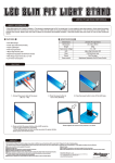 LED Slim Pit Light Stand USER MANUAL FEATURES