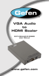 ® VGA Audio to HDMI Scaler