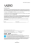 VIZIO E 260VP User Manual 1 www.VIZIO.com Dear VIZIO