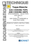 Toque Blanche GAS COOKING TOPS AND