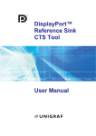 DisplayPort™ Reference Sink CTS Tool User Manual