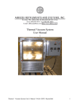 Thermal Vacuum System User Manual |