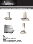 instructions guide and user manual wall mount hoods.