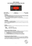 User manual ALFA 804-ADS and ALFANET 804-ADS