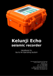 Kelunji Echo User Manual - Environmental Systems & Services