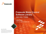 Freescale Motor Control Software Library