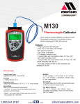 M130 Thermocouple Calibrator
