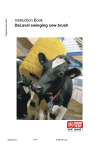 Instruction Book DeLaval swinging cow brush