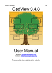GedView User Manual