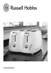 Four Slice Compact Toaster