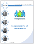 Comprehend Pro v.1 User`s Manual