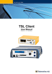 TSL Client User Manual