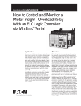 How to Control and Monitor a Motor Insight Overload Relay With an