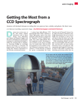 Getting the Most from a CCD Spectrograph.