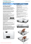 Epson EB-1735W LCD x3 Projector User Guide Manual
