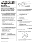 MH-C801D Battery Charger Instruction Manual