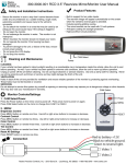 "300-3000-001 RCD 3.5"" Rearview Mirror/Monitor User Manual"