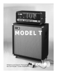 Reference and Owner`s Manual for the Sunn Model T Guitar Amplifier