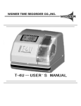 T-4U User Manual - Office Equipment Machine Shop