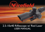 2.5-10x40 Riflescope w/ Red Laser