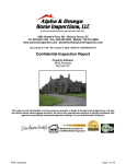 Confidential Inspection Report - Alpha & Omega Home Inspections