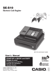 Casio SE-S10 user manual