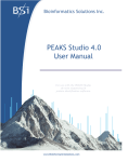 PEAKS Studio Manual 4.0 - Bioinformatics Solutions Inc.