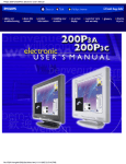 Philips 200P3A/200P3C Electronic User`s Manual
