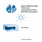Agilent 1200 Series High Performance Autosamplers & Micro Well