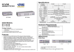 Specifications KVM SWITCH Hardware Requirements Appearance