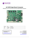 Altair User Manual - Diamond Systems Corporation