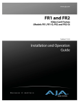 FR1 and FR2 Video Card Frames