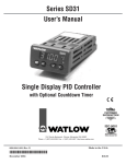 User`s Manual Series SD31 Single Display PID Controller