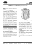 38BY Heat Pump Installation and Start-Up Instructions