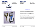 Model DA410 VOLUME FLOW ANEMOMETER User Manual