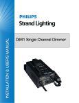 DIM1 PORTABLE DIMMER OVERVIEW 1. DIM1