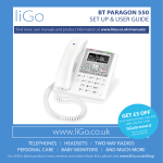 BT Paragon 550 - User Manual