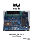 the MCS-80 Test Board User Manual