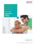 1to1 Create FAQs - Ricoh Business Booster