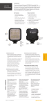 Genaray LED-2100 LED Light User Manual