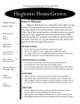 Volume 10 Issue 1 - Hogtown HomeGrown